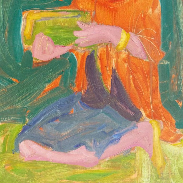 Impressionism Victor DI Gesu Young Woman Holding a Bowl For Sale - Image 3 of 7