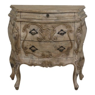 Italian Baroque Style Paint Decorated Commode For Sale