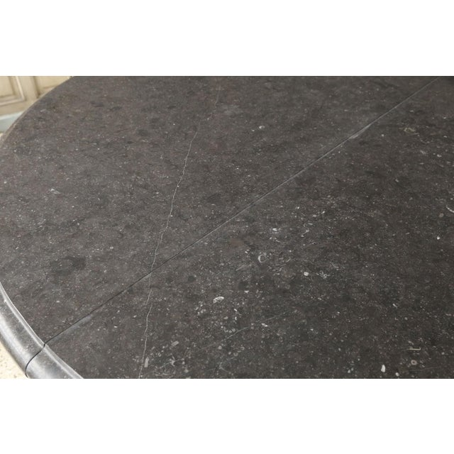 2010s Belgian Bluestone Table on Steel Base For Sale - Image 5 of 7