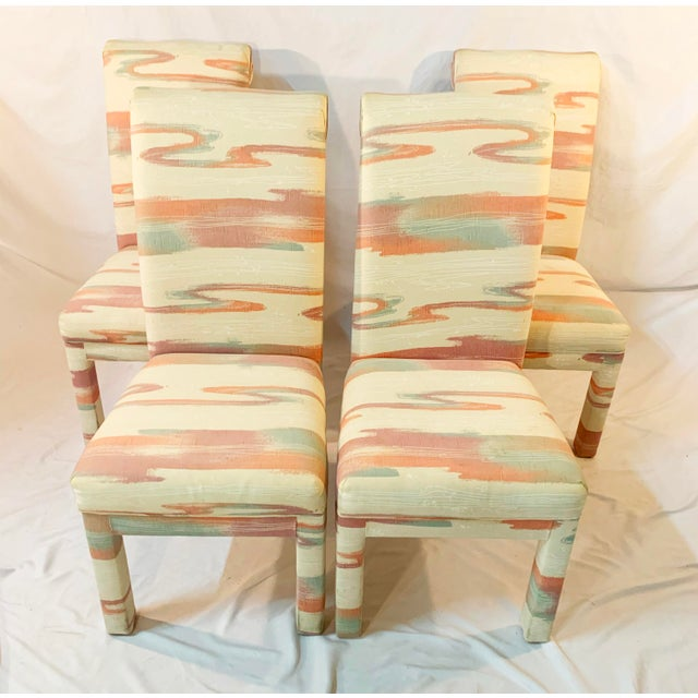 Modern Vintage Mid-Century Parsons Tufted Chairs - Set of 4 For Sale - Image 3 of 11