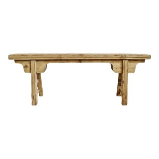 Mid 20th Century Raw Finish Village Bench For Sale
