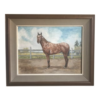 1970's Painting of Horse