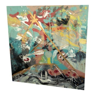 Original Abstract Painting on Lucite For Sale