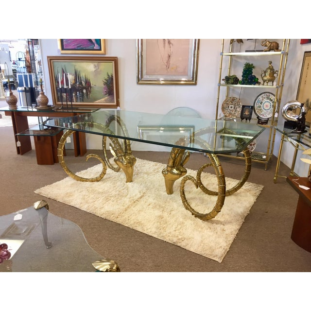 Solid Brass Vintage Ibex Dining Table For Sale - Image 10 of 14