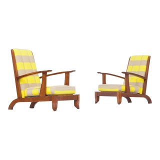 Pair of 1930's French Lounge Chairs