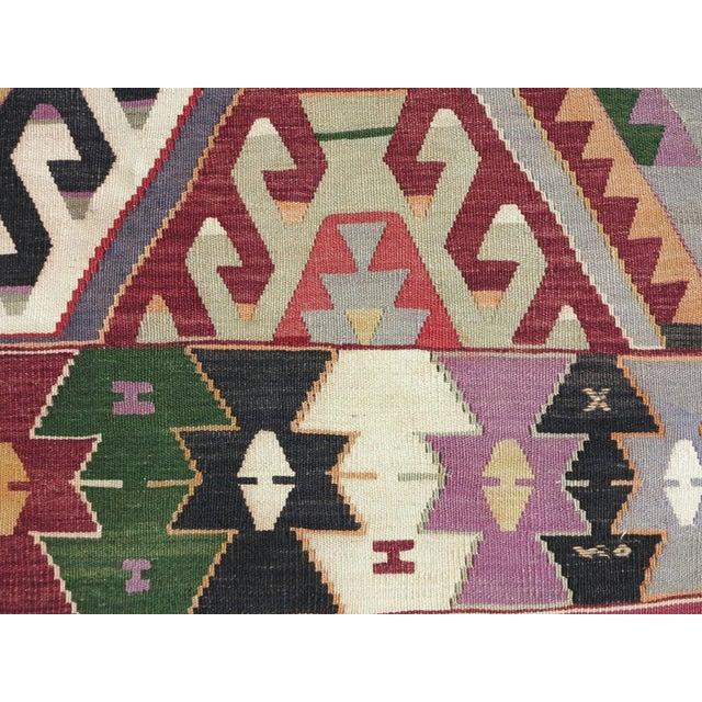 Vintage Turkish Kilim Rug - Image 7 of 9