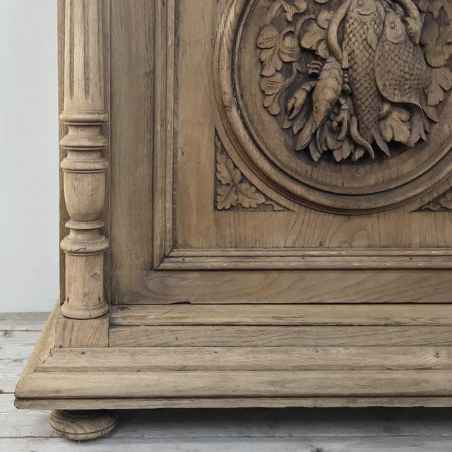 Mid 19th Century 19th Century French Renaissance Stripped Oak Buffet For Sale - Image 5 of 13