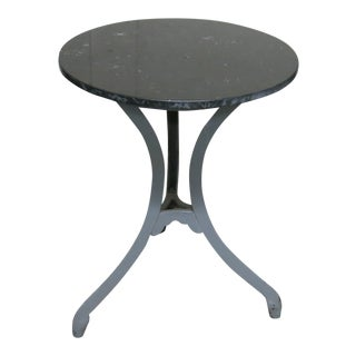 Antique Industrial Ice Cream Parlor Table For Sale