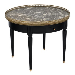Louis XVI Saint Anne Marble Bouillotte Table For Sale
