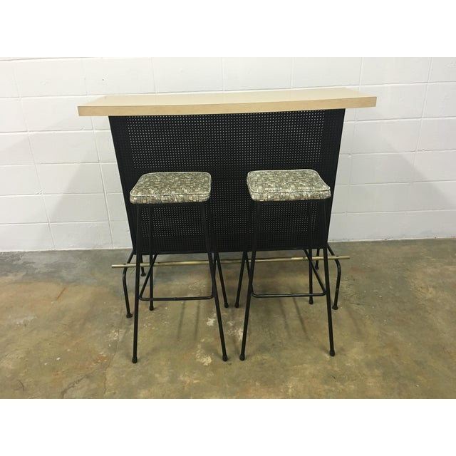 Atomic Vintage Bar With 2 Stools - Image 3 of 11