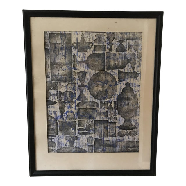 Mid-Century Abstract Objects by Irene Pasinski, Framed For Sale