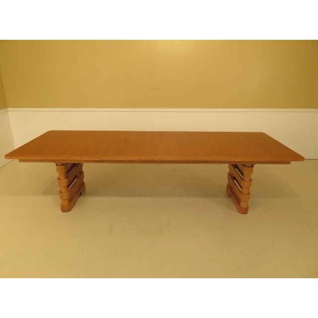 Contemporary Baker Modern Design Satinwood Mahogany Dining Room Table For Sale - Image 3 of 13