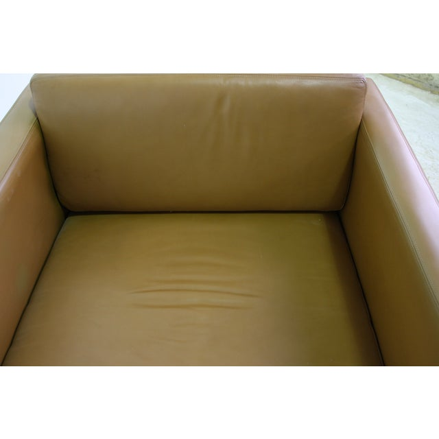 Knoll Pfister Brown Leather Club Chair - 4 Avail. - Image 5 of 6