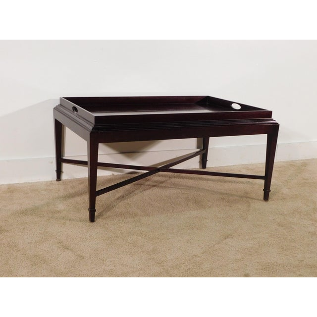 Baker Furniture Company Barbara Barry for Baker Furniture Company Java Finish Coffee Table For Sale - Image 4 of 10
