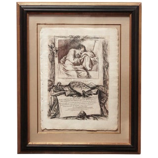 18th Century Frontispiece Engraving by Piranesi For Sale