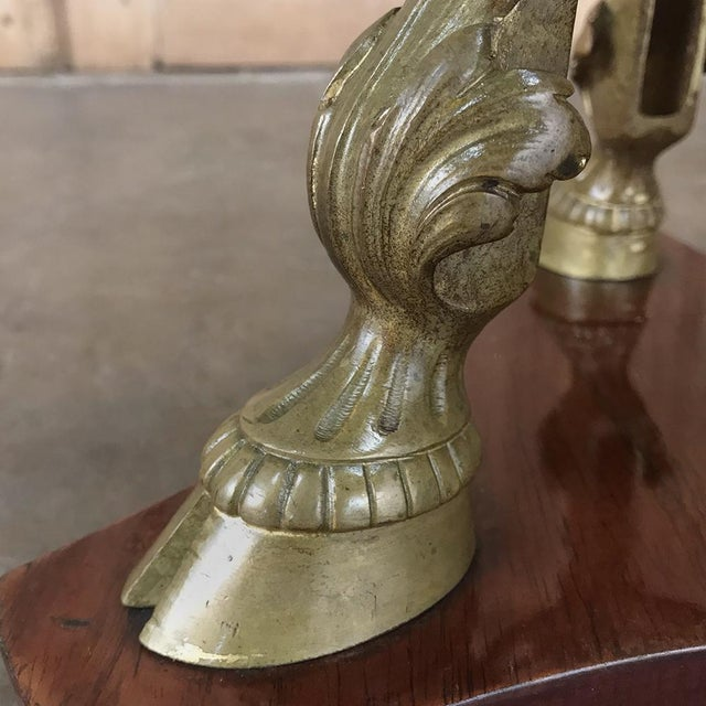 Late 19th Century 19th Century French Louis XVI Marble Top Brass Pedestal For Sale - Image 5 of 12