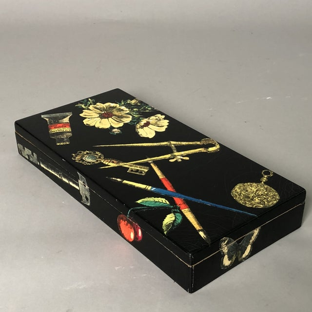 Decorative Wooden Box by Piero Fornasetti. Perfect for containing letters, papers, art supplies, curious nick-nacks or...