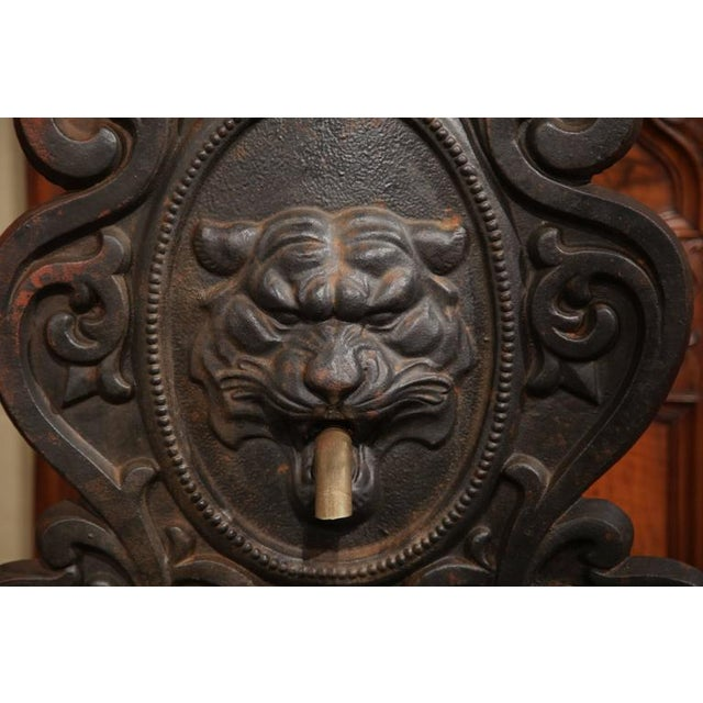 Gothic 19th Century French Cast Iron Fountain For Sale - Image 3 of 7