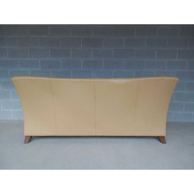 "NATUZZI Italian Leather Sofa 86""W - Image 6 of 9"