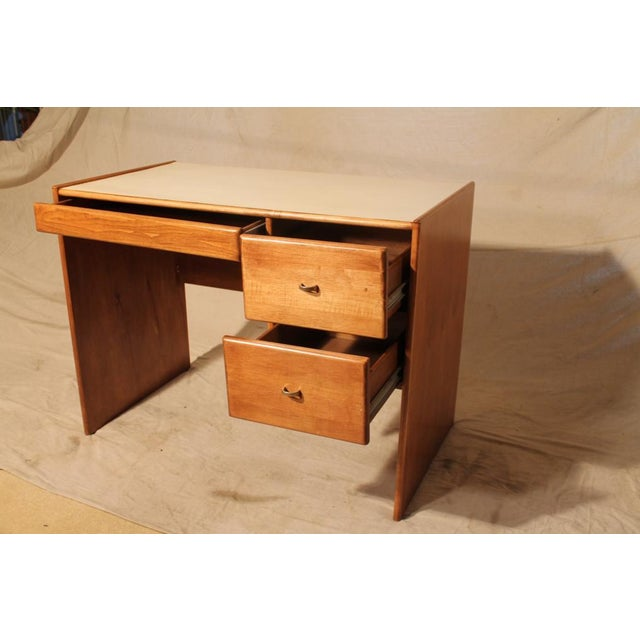 Mid-Century Student Desk with White Top - Image 4 of 8
