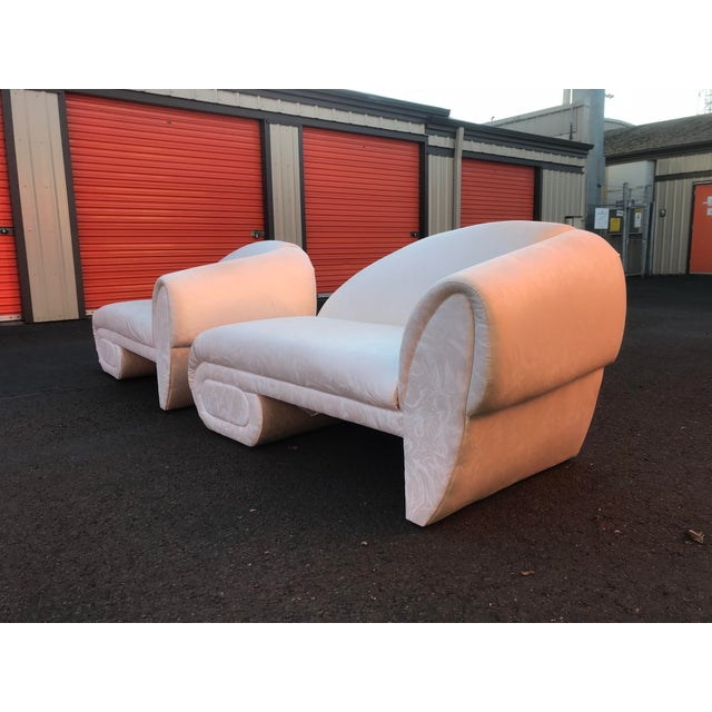 White Sculptural Cloud Chaise Lounge Sofas by Marge Carson -A Pair For Sale - Image 8 of 12