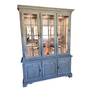 1970s French Country Drexel China Cabinet For Sale