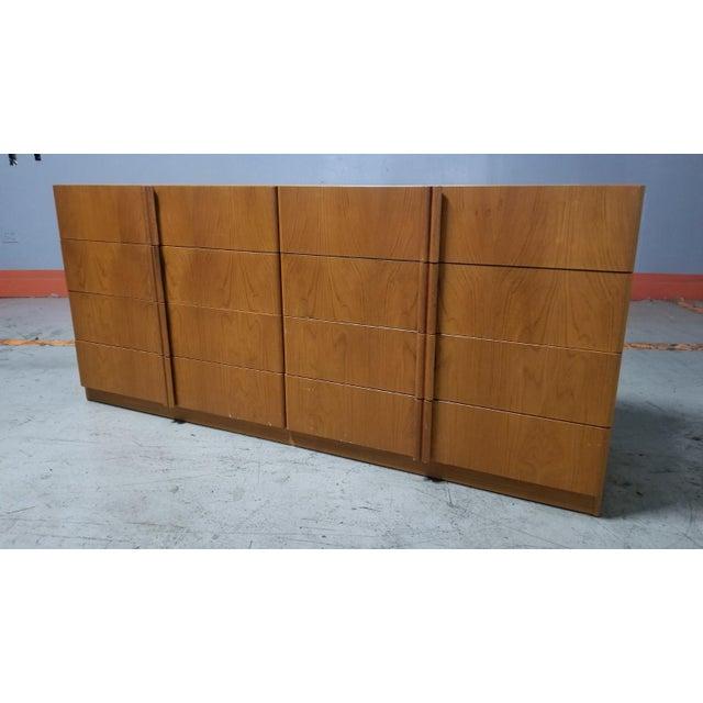 Mid Century Modern Danish 8 Drawer Credenza Dresser For Sale - Image 12 of 12