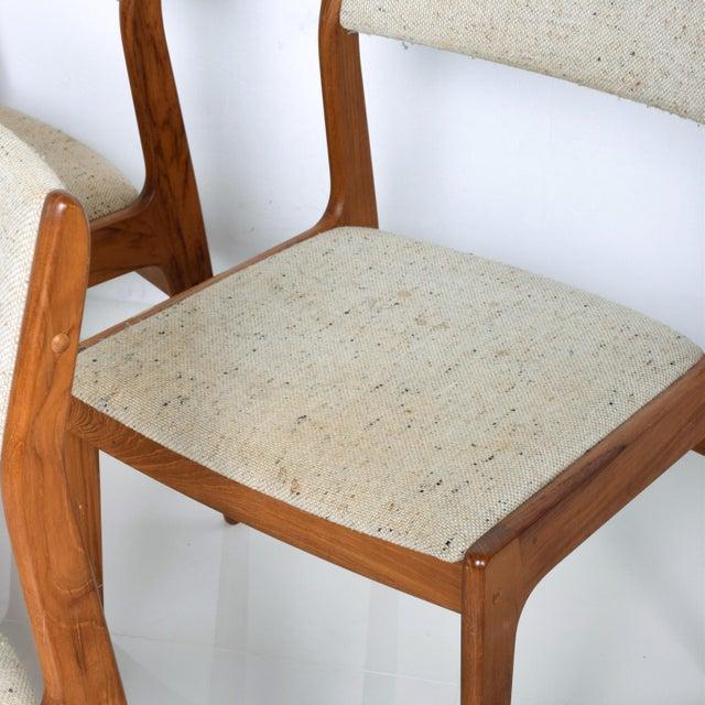 Danish Modern Benny Linden Mid-Century Danish Modern Teak Dining Chairs - Set of 4 For Sale - Image 3 of 11