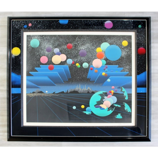 Contemporary Modern Framed Signed Serigraph Stan Solomon After Beginning 1980s For Sale - Image 9 of 9