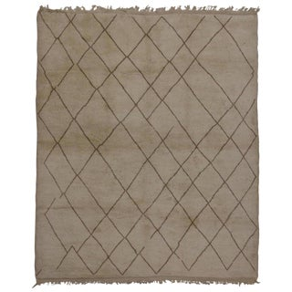 Contemporary Moroccan Rug with Modern Lattice Design