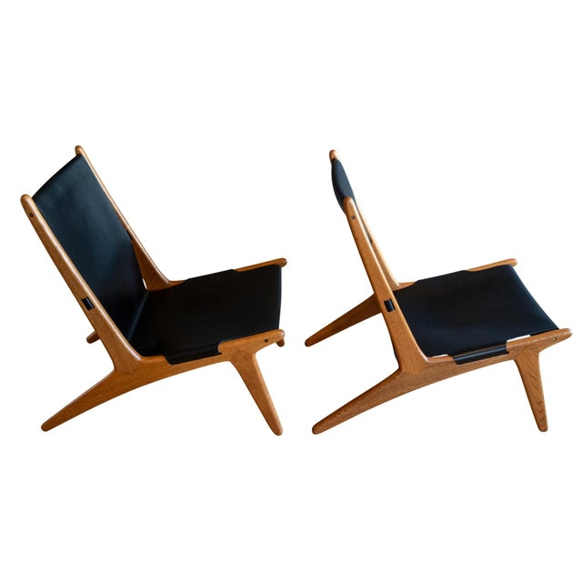 """Black Uno & Östen Kristiansson """"Hunting"""" Chairs - a Pair For Sale - Image 8 of 8"""