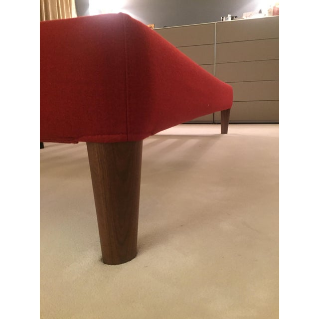 Design Within Reach Red Upholstered Wide Bed - Image 4 of 8