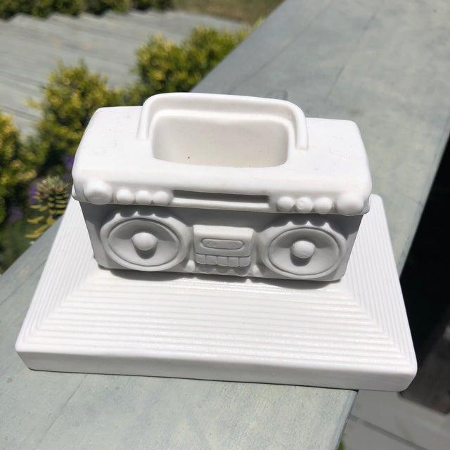 Jonathan Adler Jonathan Adler Ceramic Boombox Match Holder For Sale - Image 4 of 8