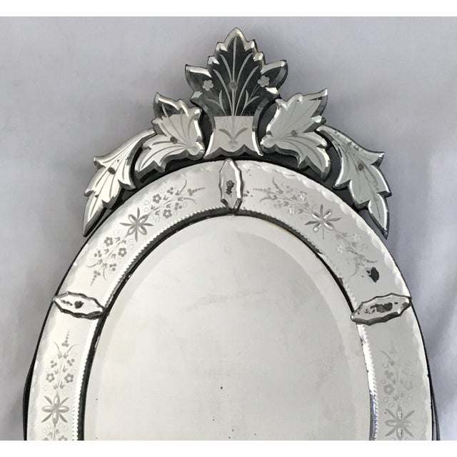 Large Venetian Antique Mirror From France For Sale - Image 4 of 6