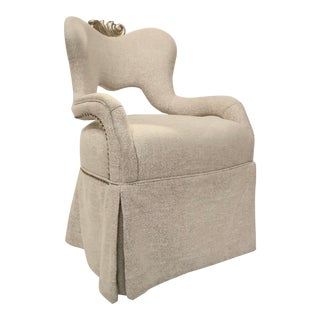 Caracole Modern White and Beige Host Chair For Sale
