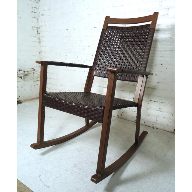 Mid Century Modern Style Rocker For Sale In New York - Image 6 of 10