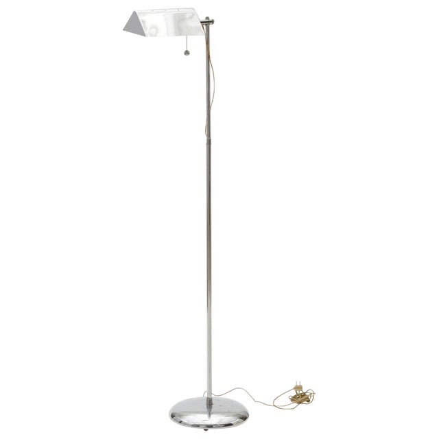 Chrome Reading/Pharmacy Floor Lamp For Sale