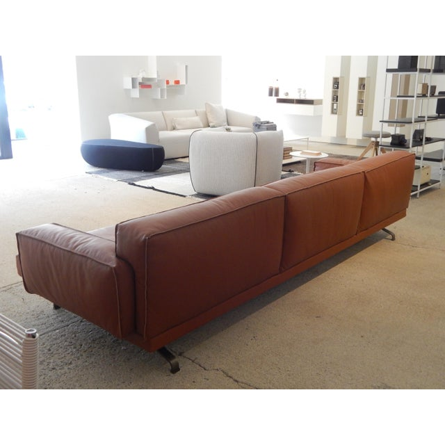 Gordon Guillaumier Lema 'Mustique' Leather Sofa - Image 5 of 9
