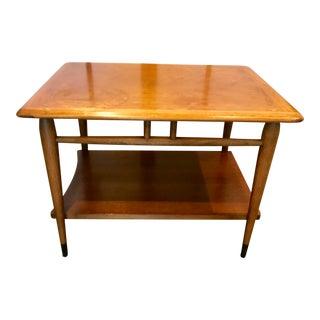 1950s Danish Modern Lane Acclaim Walnut Side Table For Sale
