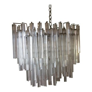 Large Multi Tiered Murano Glass Chandelier For Sale