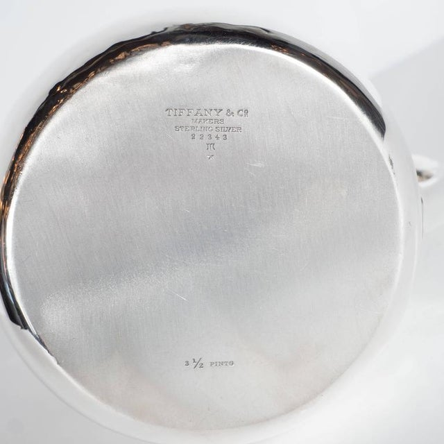 Modern Fine Tiffany and Company Sterling Silver Pitcher For Sale - Image 3 of 10