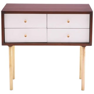 Harvey Probber Walnut Brass and Lacquered Chest
