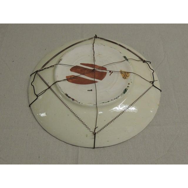 Vintage Moroccan Ceramic Plate - Image 4 of 4