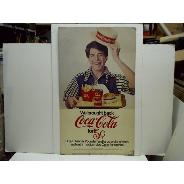 Vintage McDonalds & Coca-Cola Advertising Sign For Sale - Image 5 of 5
