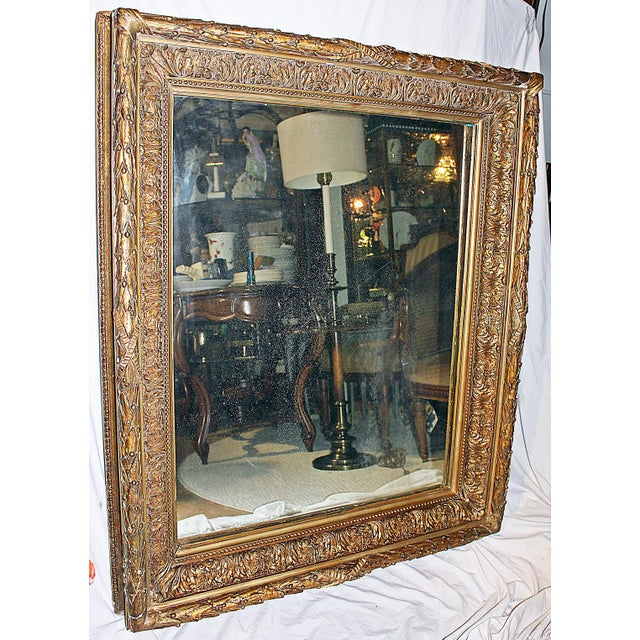 Antique Gilt Gesso Mirror - Image 3 of 7