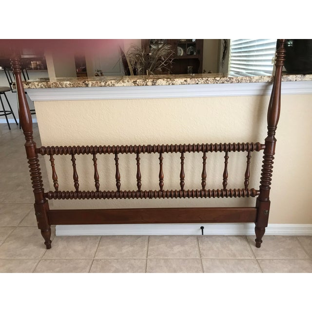 Chippendale Pennsylvania House Chippendale Four Poster Solid Cherry Double Bed Frame For Sale - Image 3 of 5