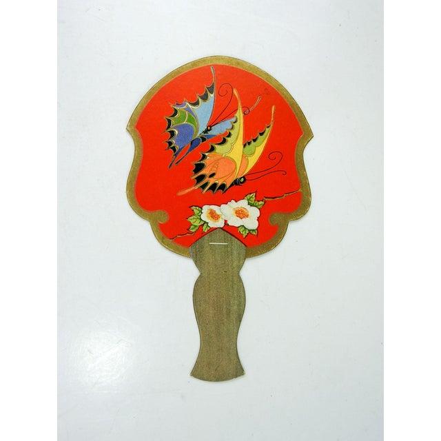 Vintage Art Deco Fan Bridge Tally Cards Butterfly - Set of 4 For Sale - Image 4 of 4