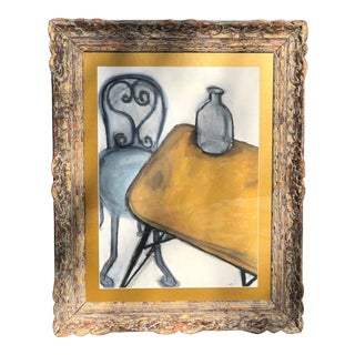 Contemporary French Still Life Painting in Vintage Frame For Sale