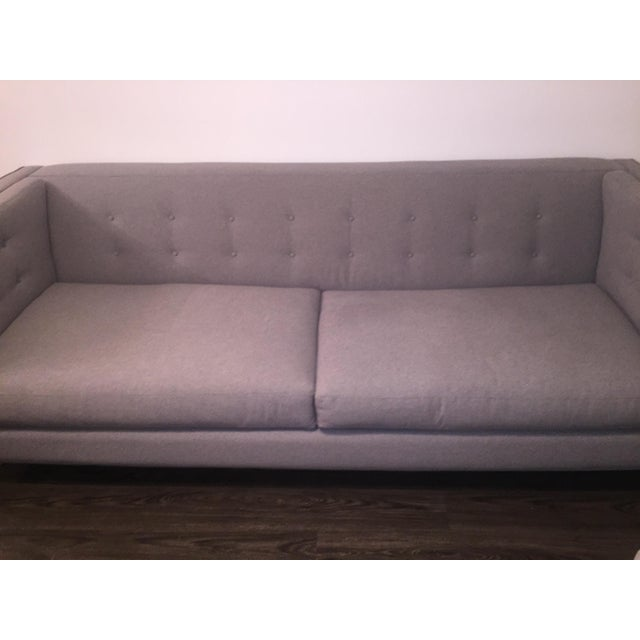 Braylei Gray Track Arm Sofa For Sale - Image 5 of 7