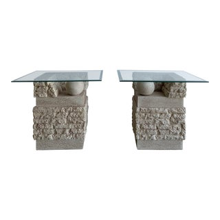 1990s Ceramic End Tables For Sale